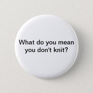 Knit 2 Inch Round Button