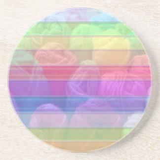 Knit Club - Rainbow Woolen Balls Beverage Coaster