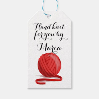 Knit for You Personalized with Care Info Pack Of Gift Tags
