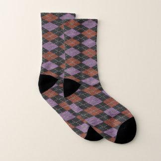 knit Geometric fabric pattern Socks 1