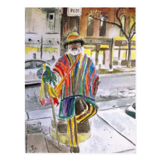 Knit Guy on Main St.  Ann Arbor, Michigan Postcard