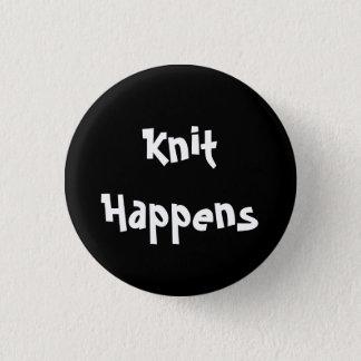 Knit Happens 1 Inch Round Button