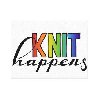 Knit happens canvas print