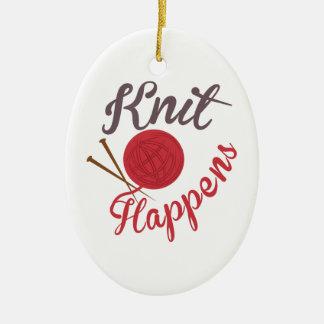 Knit Happens Ceramic Ornament