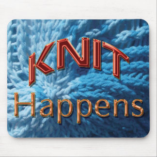 Knit Happens Mousepad (blue swirl)