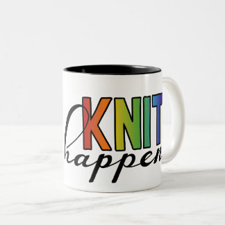 Knit happens Two-Tone coffee mug