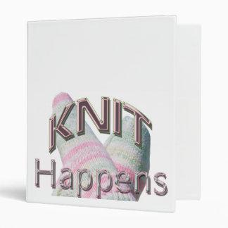 Knit Happens Vinyl Binder