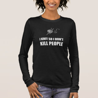 Knit Kill People White Long Sleeve T-Shirt