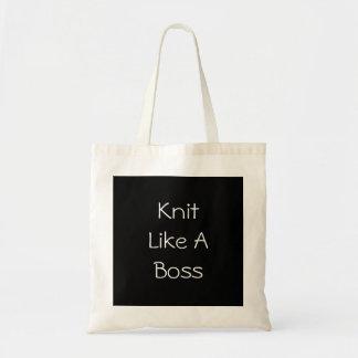 Knit Like A Boss Budget Tote Bag