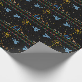 Knit Nativity Scene Religious Merry Christmas ucs Wrapping Paper