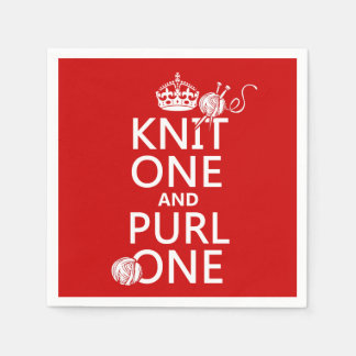Knit One and Purl One Disposable Napkins