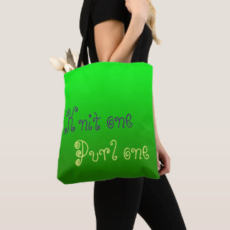 Knit one. Purl one. - knitting project Tote Bag