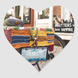 Knit One, Purl Two Heart Sticker