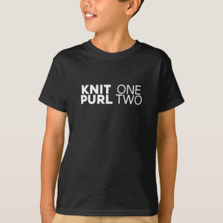 KNIT one purl two - Knitter's Gift Tshirt