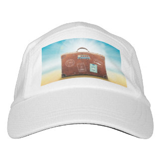 Knit Performance Hat, White with travel motive Hat