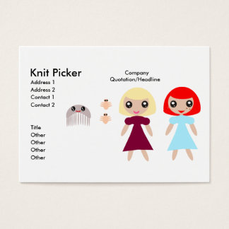 Knit Picker Business Card