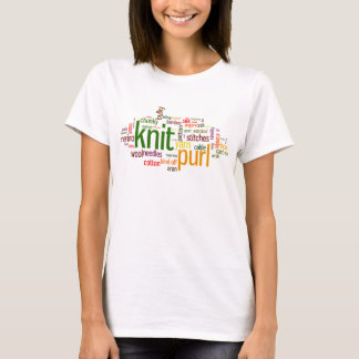 Knit Purl Knitting Lexicon for Knitters T-Shirt