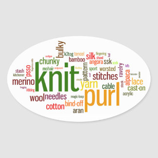 Knit Purl Knitting Lexicon Knitters Car Sticker