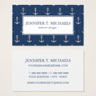 Knit Sea Anchor Business Card