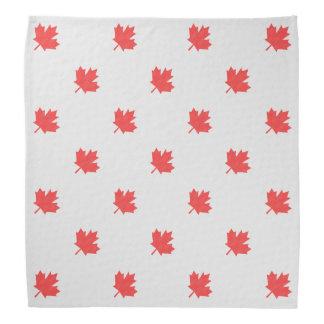 Knit Style Maple Leaf Knitting Motif Bandana