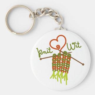 Knit Wit Basic Round Button Keychain