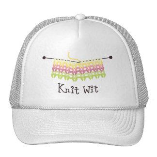 Knit wit trucker hat