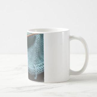 Knit wit hat and needle classic white coffee mug