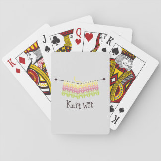 Knit Wit! Playing Cards
