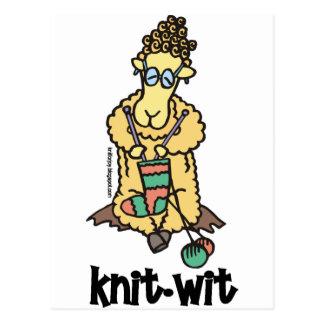 Knit-Wit Postcard