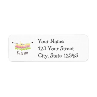 Knit Wit! Return Address Label