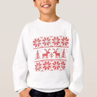 Knit with deer sweatshirt