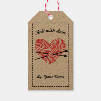 Knit with Love / Care Instructions • Crafts Pack Of Gift Tags