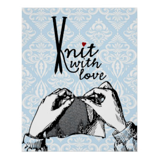 Knit with Love Poster