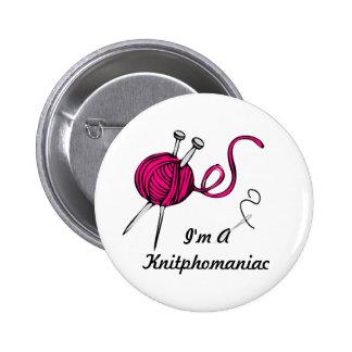 Knitphomaniac 2 Inch Round Button