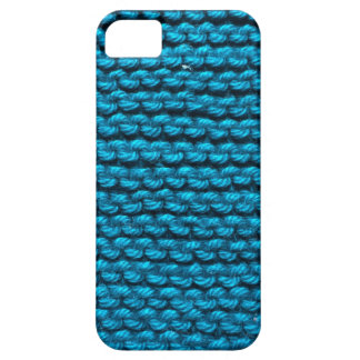 Knitted blue pattern iPhone 5 case