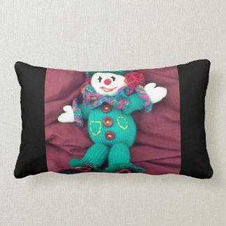 Knitted clown lumbar pillow
