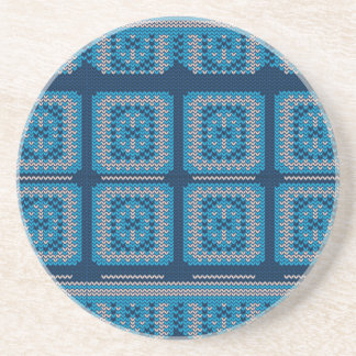Knitted Decorative Background2 Coaster