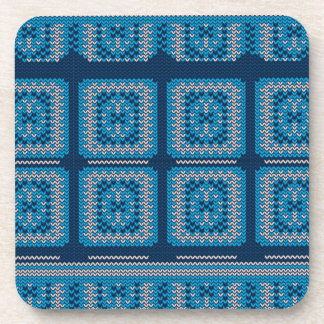 Knitted Decorative Background2 Drink Coasters