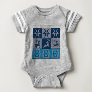 Knitted Decorative Background Baby Bodysuit