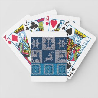Knitted Decorative Background Bicycle Playing Cards
