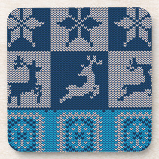 Knitted Decorative Background Coasters