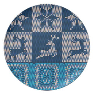 Knitted Decorative Background Plate