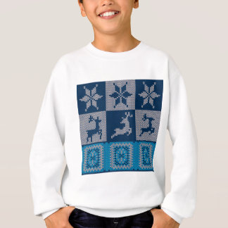 Knitted Decorative Background Sweatshirt