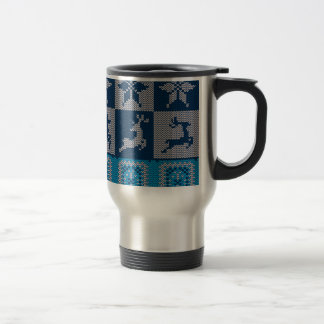 Knitted Decorative Background Travel Mug