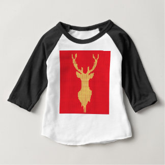 Knitted Deer Baby T-Shirt