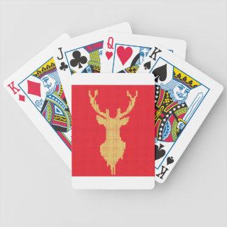 Knitted Deer Bicycle Playing Cards