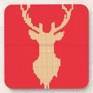 Knitted Deer Drink Coasters