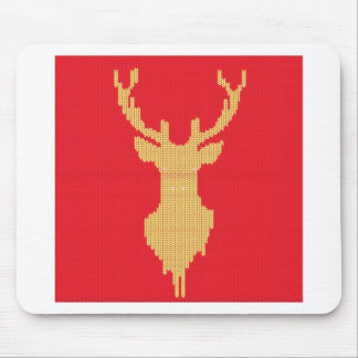 Knitted Deer Mouse Pad