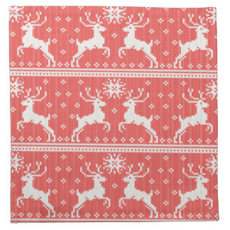 Knitted Deer Pattern Cloth Napkins