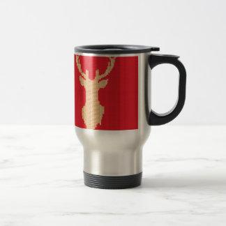 Knitted Deer Travel Mug